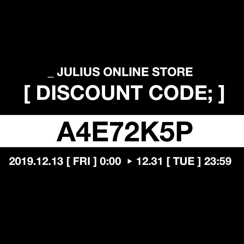 _JULIUS / NILøS Discount code;
